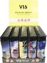 Klik aanstekers 50 stuks in tray navulbaar electronic lighters- Vio deal (high quality)