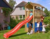 Jungle Gym - Cottage Playhouse 145 - Speelhuis voor Buiten - Met Glijbaan - Rood
