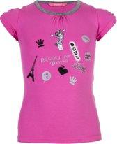 Papillon Paris  Ballettop - Maat 128 Kinderen - roze - grijs - zwart