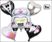 5x Folie ballon Huwelijk set