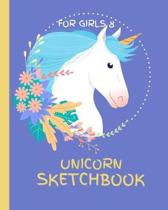 Unicorn Sketchbook for Girls 8