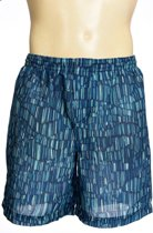 zondoorlatende heren zwembroek board shorts - Funny Stripes