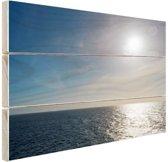 Noordzee in Europa Hout 80x60 cm - Foto print op Hout (Wanddecoratie)
