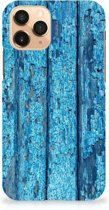 iPhone 11 Pro Backcase Blauw Wood