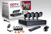 CCTV aprica camerasysteem 4 Camera's + DVR niet voor internet en telefoon