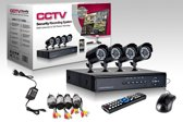 CCTV aprica camerasysteem 4 Camera's + DVR ook voor internet en telefoon