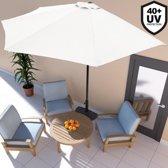 Balkon parasol , halve parasol, muur parasol, Creme