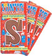 Tony's Chocolonely Melk pepernoot letterreep S - 3 stuks