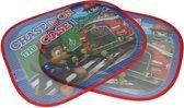 Chase Opvouwbare Auto Zonnescherm Set met Zuignappen - 2 stuks - 44x36cm - voor Kinderen