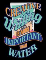 Creative Writing Is More Important Than Water