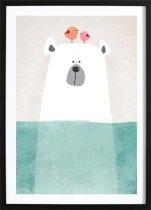 Ijsbeertje Poster (70x100cm) - Kinderen - Poster - Print - Kinderkamer - Wallified