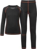 Tenson Sportshirt - Maat 158  - Unisex - zwart/oranje