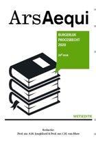 Ars Aequi Wetseditie - Burgerlijk Procesrecht 2020