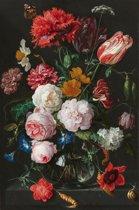 Fotobehang - Jan Davidsz de Heem - Stilleven met bloemen - breed 165 cm x hoog 250 cm. Vliesbehang 150 grams A-Kwaliteit. Art. F029.21