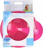 Eetkom Met Lepel roze -  babyeetkom voor onderweg - baby