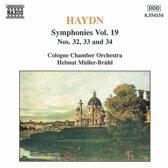 Haydn: Symphonies Vol 19 - no 32, 33 and 34 / Muller-Bruhl