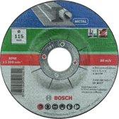 Bosch slijpschijven set - Voor metaal - 115 x 2,5 mm - gebogen - 5 stuks