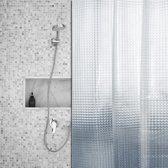 Roomture - douchegordijn - Shiny Squares - 120 x 200