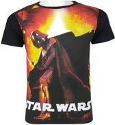 Star Wars shirt maat 104 zwart