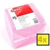 Ibex Huishouddoekjes - Roze - Multipak 4 x 25 stuks