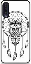 Galaxy A50 Hardcase hoesje Dream Owl Mandala Black