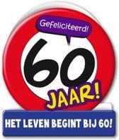 Paperdreams - Wenskaart - Verkeersbord - 60 Jaar