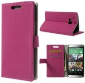 Shop4 - HTC One (M8) - Gravel Wallet Case Hoesje Roze