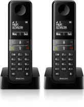 Philips D4502 - Duo DECT telefoon - Zwart