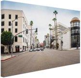 Rodeo Drive Los Angeles Canvas 120x80 cm - Foto print op Canvas schilderij (Wanddecoratie)