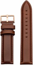 Brown leather - rose gold buckle