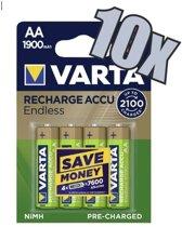Varta Oplaadbare AA batterij 1900 mAh - 40 stuks