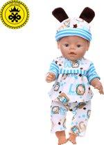 B-Merk Baby Born pakje, blauw/wit, dieren