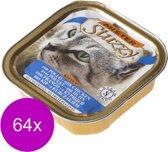 Mister Stuzzy Cat Paté Kitten - Kattenvoer - 64 x Kip 100 g