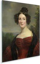 Catharina Annette Fraser - Schilderij van Jan Adam Kruseman Plexiglas 30x40 cm - klein - Foto print op Glas (Plexiglas wanddecoratie)