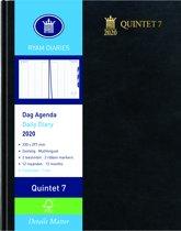 Ryam Quintet 7 Agenda 2020 - Zwart - 23x30 cm - Dag per 2 pagina's