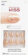 KISS GEL FANTASY Readly-to-wear gel  Amazing Gel Shine Ultra Smooth Finish 24 nails KGN08