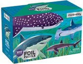 Mudpuppy 100 PC Foil Puzzle - Sharks