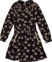 Frenchy jurk - Zwart - Maat 140