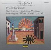 Hindemith: 6 Chansons, Madrigals, etc / Parkman, et al