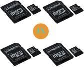 4x Kingston Technology Canvas Select flashgeheugen 32 GB MicroSDHC Klasse 10 UHS-I + Adapter