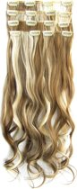 Clip in hairextensions 7 set wavy bruin / blond - P6P/613
