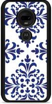 Moto G7 / G7 Plus Hardcase hoesje Delfts Blauw