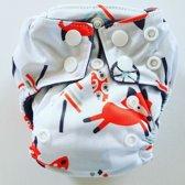 AN8 AIO Newborn wasbare Pocket luier vos wit