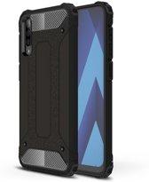 Samsung galaxy A70 silicone TPU hybride zwart hoesje case