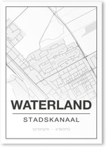 Poster/plattegrond WATERLAND - A4