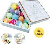 Bruisballen | 16 x Natuurlijke Bruisballen voor in bad | Badbommen | Aromatherapie | Bath Bombs Giftset | Cadeau verpakking |