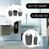 Badkamer-en Toiletset (5 Delig) - Wit