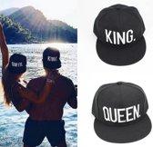 King & Queen set snapback petten (geborduurd!) | Cap | Pet | Queen | King