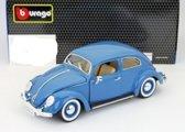 Volkswagen Kever Beetle 1955 Blauw 1-18 Burago