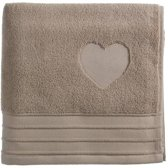 RM Heart guest towel Taupe 30x50